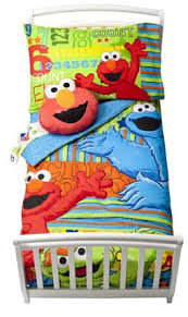 Elmo Toddler Bed Set by Sesame Street Elmo Abc 123 4 Piece Toddler Bedding Set Toddler