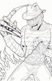 Printable Freddy Krueger Pumpkin Stencils by Freddy Krueger Coloring Page Coloring Horror Pinterest
