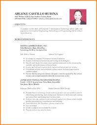 Free Chronological Resume Sample Philippines Standard