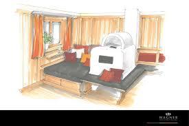 wohnzimmer kamin mit liegefläche im ländlichen stil stube