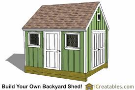 Saltbox Shed Plans 10x12 by 10x12 Colonial Shed Plans