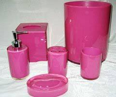 pink resin bathroom set lotion dish tumbler toothbrush holder soap
