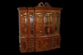 large mahogany china cabinet