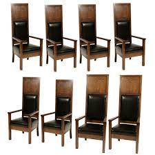 Masonic Lodge Oak Chairs