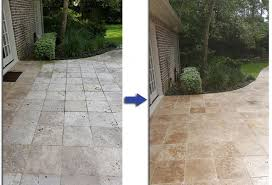 Travertine Floor Cleaning Houston by Total Finish Floors Before And After Restoration Photos Gallery