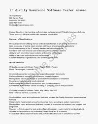 Resume Objective Examples Quality Assurance Fresh The Miscellaneous Writings Literary Critical Juridical Sample