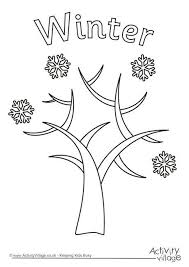 winter tree colouring page 460 2