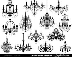 Chandelier Clip Art Scrapbooking Clipart Printable Vintage Wedding Invitation INSTANT DOWNLOAD