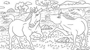 Coloring Pages Of Przewalskis Horse