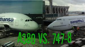 A380 vs 747 8i Lufthansa Economy Class Flight parison
