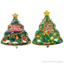 Christmas Tree Shape Aluminum Foil Balloons ChildrenS Holiday Toy Decoration Party Balloon 5674cm Balls Baubles From
