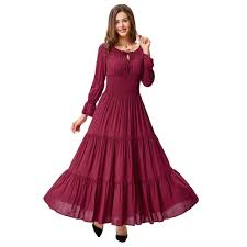 online buy wholesale long sleeve cotton maxi dress from china long