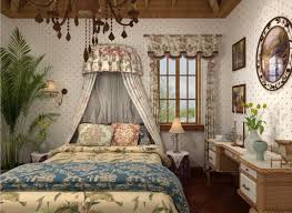 Interesting Country Style Decorating Reference And Exclusive Bedroom Design Curtains