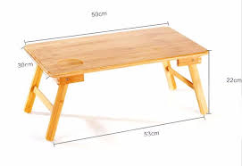 Wood Portable Folding Laptop Table Bed Table Home Furniture Bamboo