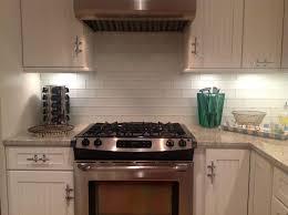 home design white horizontal tile backsplash modern new 2017