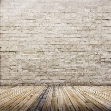 LB Brick Wall And Wooden Floor Vinyl Photography Backdrop Customized Photo Background Studio Prop