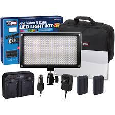 vidpro varicolor 312 bulb and photo led light kit led 312