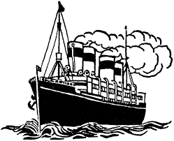 Ship Clip Art Black And White Line ly