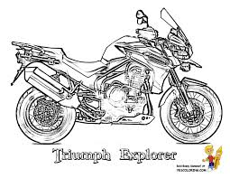 Triumph Explorer Race Motorcycle Printout Page At YesColoring