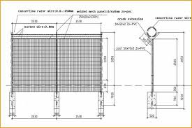 The Drawing Of Anti Climb Fence Installation Including Farm Fence Drawing