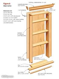 build a wall niche wall stud spaces and walls