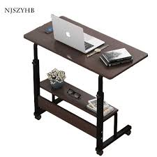hohe qualität home schlafzimmer wohnzimmer mit roller heben laptop halterung tragbaren lagerung tisch kleine schreibtisch