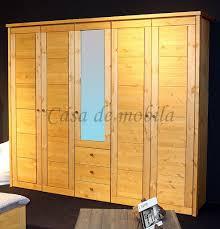 massivholz schlafzimmerschrank 5türig kleiderschrank kiefer gelaugt geölt