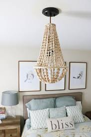 Chandelier For Bedroom Elegant This Wood Bead Is Simple To Make And Costs So Much