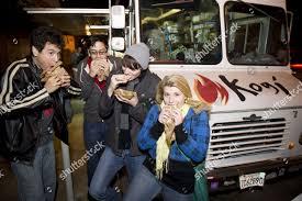 100 Koji Truck Kogi BBQ Food Los Angeles USA Stock Photo 2851011a