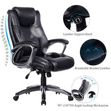 100 Heavy Duty Office Chairs With Removable Arms Amazoncom VANBOW Leather Memory Foam Chair Adjustable