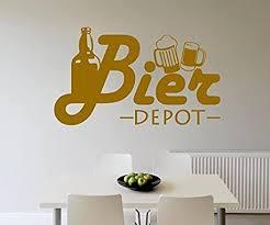 wandtattoo bier flasche depot küche bar wand sticker