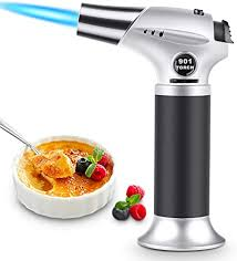 magicfun küchenbrenne flambierbrenner nachfüllbar butan gasbrenner mit sicherheitsschloss für die küche home creme brulee gebäck desserts cing