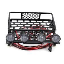 100 Truck Light Rack RC CAR Roof Luggage Carrier With 4 LED Bars Crawler