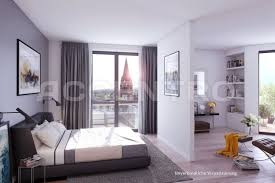 gestaltung für ein modernes schlafzimmer mit trennwand und