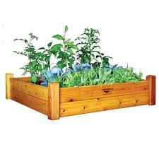 greenes fence 48 in x 96 in cedar raised garden bed rc 4c8t2
