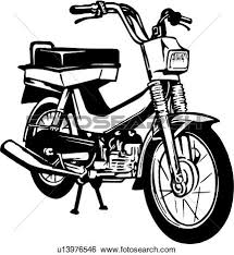 Drawn Motorcycle Moped 5