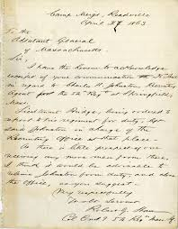 Letter from Colonel Robert Gould Shaw April 27 1863 Digital