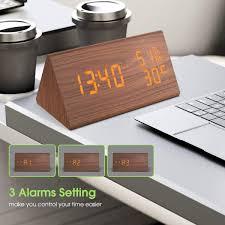 für zuhause nbpower wecker digitaler led wecker uhr holz
