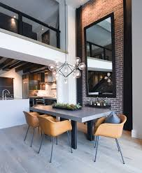 As Industrial Tastes Go Why Not Add A Modern Chandelier Your Dining Room Lighting Discreet It In Black To Design And