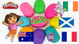 Dora The Explorer Fiesta Kitchen Set by Dora The Explorer Egg Surprise Toy Play Doh Surprise Eggs Youtube