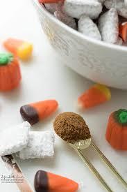 Pumpkin Spice Chex Mix With Candy Corn by Homemade Pumpkin Spice Muddy Buddies