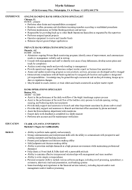 Download Bank Operations Specialist Resume Sample As Image File