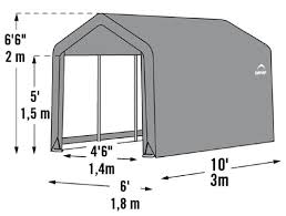 shelterlogic 6x6x6 shed in a box fabric shed kit 70403