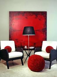 Red Accent Walls Living Room Wall Decor Dining With Traditional Metal Art Murals Decorating Ideas