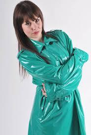shiny green plastic raincoat pvc4fun