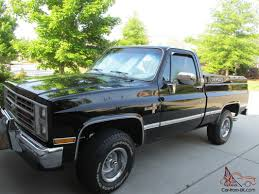 1986 Chevrolet Silverado C-10, 4wd,black W/ Red Interior, 26,400 ...
