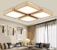großhandel neue kreative eiche moderne led deckenleuchten für wohnzimmer schlafzimmer lara techo holz led deckenleuchte leuchten luminaria