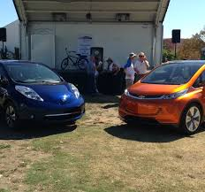The Chevrolet Bolt And 2016 Nissan LEAF Made Their West Coast Debuts This Past Weekend At
