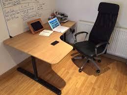 Ikea Bekant L Shaped Desk by Ikea Bekant Corner Desk Left Oak Veneer Black In Manchester