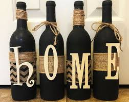 Decorative Wine Bottles Crafts by 12 Best Home Wine Bottles Images On Pinterest Decorated Bottles